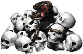 Snake Skull Pile Decal / Sticker 02