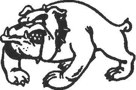 BullDog Decal / Sticker 02
