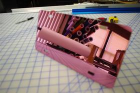 zz Pink Chrome Blank License Plate