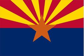 Arizona Flag Decal / Sticker 01