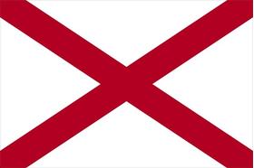 Alabama Flag Decal / Sticker 01