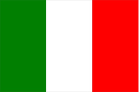 Italian Flag Decal / Sticker 03