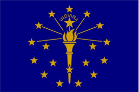 Indiana State Flag Decal / Sticker 01