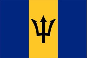 Barbados Flag Decal / Sticker 01