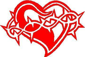 Barbed Heart 01 Decal / Sticker