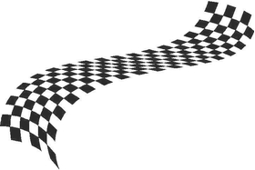 Checkered Flag Decal / Sticker 25