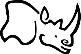 Black Rhino Hard Alloys Decal / Sticker 04