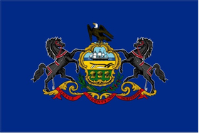 Pennsylvania State Flag Decal / Sticker 01