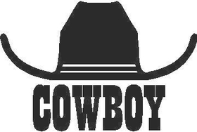 Cowboy Hat Decal / Sticker 03