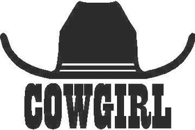Cowgirl Hat Decal / Sticker