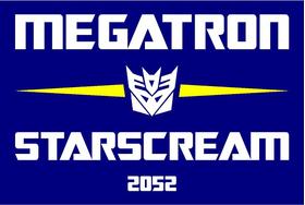 Vote Megatron Starscream Political Decal / Sticker 07