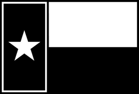 Single Color Texas Flag Decal / Sticker 07