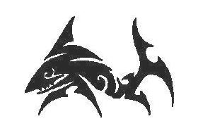 Tribal Shark Decal / Sticker 11