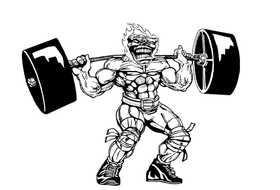 Weightlifting Comets Mascot Decal / Sticker 7
