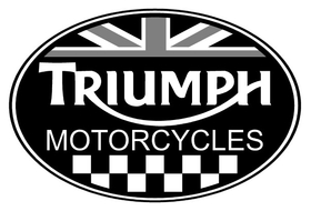 Triumph Oval with British Flag Decal / Sticker 32