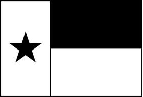 Single Color Texas Flag Decal / Sticker 10