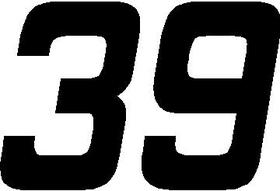31 Race Number Hemihead Font Decal / Sticker31 Race Number Hemihead Font Decal / Sticker