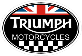 Triumph Oval with British Flag Decal / Sticker 08