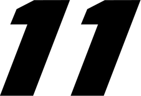 11 Race Number Decal / Sticker c