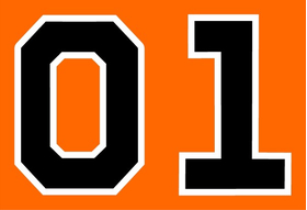 General Lee 01 Number Decal / Sticker f