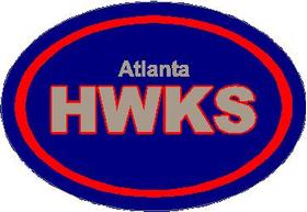 Atlanta Hawks Oval Decal / Sticker