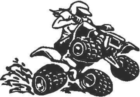 ATV Girl Decal / Sticker