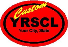CUSTOM School Oval Decal / Sticker