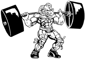 Weightlifting Rams Mascot Decal / Sticker 4