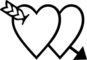 Hearts Decal / Sticker 10