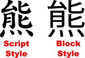 CUSTOM Kanji Decal / Sticker