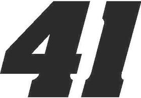 41 Race Number Aardvark Font Decal / Sticker
