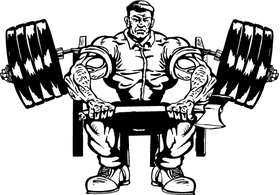 Lumberjacks Weightlifting Mascot Decal / Sticker