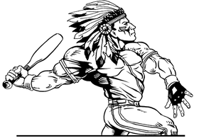 Baseball Braves / Indians / Chiefs Mascot Decal / Sticker ba2