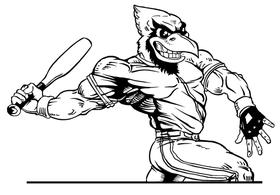 Baseball Cardinals Mascot Decal / Sticker 6