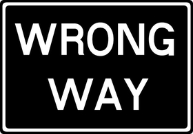 Wrong Way Decal / Sticker 01