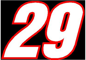 29 Race Number 2 Color Switzerland Inserant Font Decal / Sticker