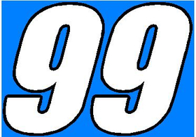 99 Race Number 2 Color Decal / Sticker