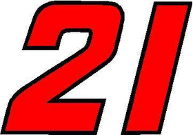 21 Race Number 2 Color Decal / Sticker