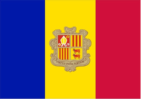 Andorra Flag Decal / Sticker 01