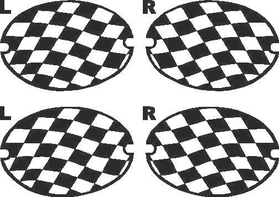C5 Checkered Tail Light Covers