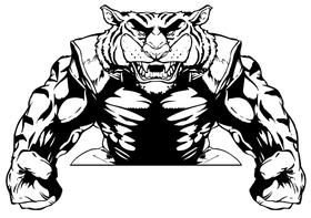 Tigers Football Mascot Decal / Sticker 12