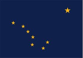 Alaskan Flag Decal / Sticker 01