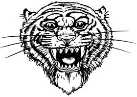 Tigers Mascot Decal / Sticker 2