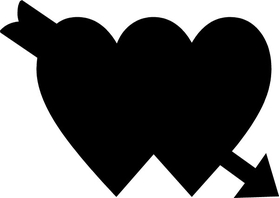 Hearts Decal / Sticker 09