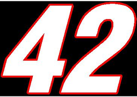 42 Race Number 2 Color Switzerland Font Decal / Sticker