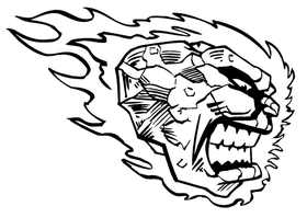 Comets Mascot Decal / Sticker 2