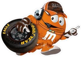 Orange NASCAR M&M Decal / Sticker 53