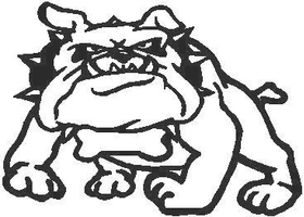 Bulldog Decal / Sticker 15