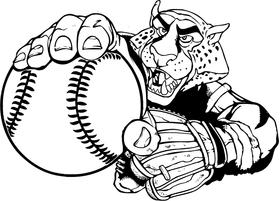 Cheetahs Baseball Mascot Decal / Sticker