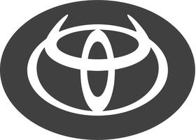 Toyota Devil Horns Decal / Sticker 04